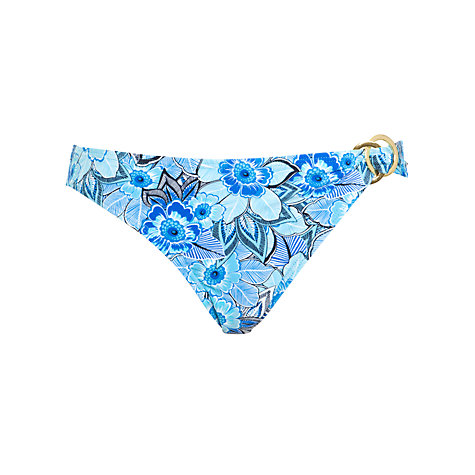 Buy John Lewis Tribal Floral Ring Detail Bikini Briefs, Multi Blue Online at johnlewis.com