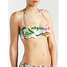 Buy John Lewis Hawaii Floral Bandeau Bikini Top, Multi Online at johnlewis.com
