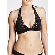 Buy John Lewis Carmen Triangle Halter Bikini Top, Black Online at johnlewis.com