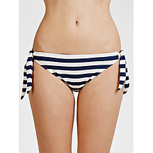 Buy John Lewis Textured Nautical Stripe Bikini Briefs, Navy / White Online at johnlewis.com