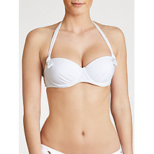Buy John Lewis Eyelet Underwired Bikini Top, White Online at johnlewis.com