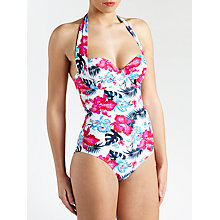 Buy John Lewis Orchid Underwired Control Swimsuit, White Floral Online at johnlewis.com