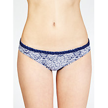 Buy John Lewis Paisley Plait Bikini Bottoms, Navy / White Online at johnlewis.com