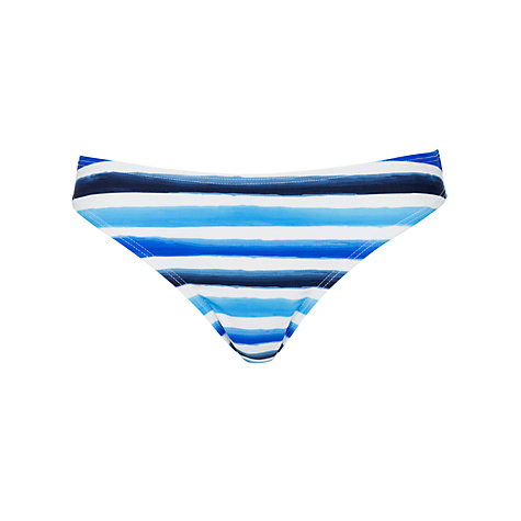 Buy John Lewis Watercolour Stripe Bikini Bottoms, Multi Blue Online at johnlewis.com