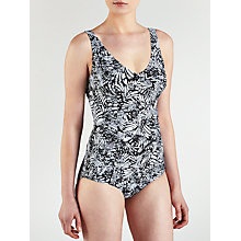 Buy John Lewis Ruched Control Swimsuit, Black / White Online at johnlewis.com