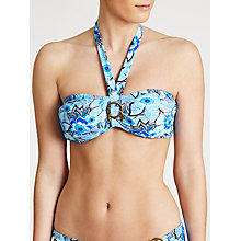 Buy John Lewis Tribal Floral Bandeau Bikini Top, Multi Blue Online at johnlewis.com