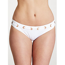 Buy John Lewis Eyelet Belt Detail Bikini Briefs, White Online at johnlewis.com