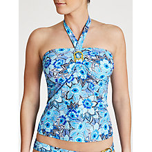Buy John Lewis Tribal Floral Tankini Top, Multi Blue Online at johnlewis.com