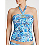 John Lewis Tribal Floral Tankini Top, Multi Blue
