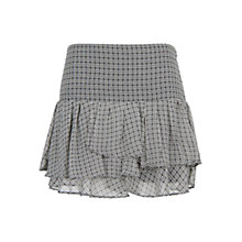 Buy Mango Chiffon Ruffle Skirt, Black Online at johnlewis.com