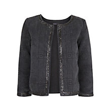 Buy Mango Textured Jacket, Dark Grey Online at johnlewis.com