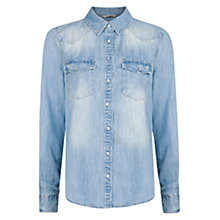 Buy Mango Light Wash Denim Shirt Online at johnlewis.com