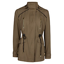 Buy Mango Hooded Parka, Medium Beige Online at johnlewis.com