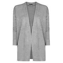 Buy Mango Ribbed Hem Cardigan, Medium Grey Online at johnlewis.com