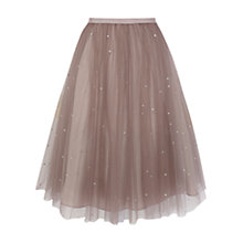 Buy Coast Cordelia Skirt, Oyster Online at johnlewis.com