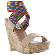 Buy Steve Madden Roperr Platform Wedge Heel Sandals Online at johnlewis.com