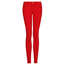 Buy Mango Slim Fit Jeans, Bright Red Online at johnlewis.com