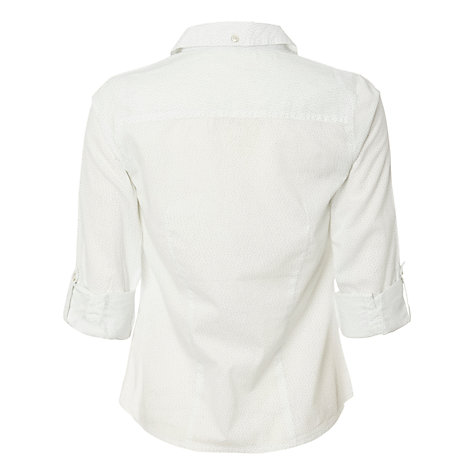 Buy White Stuff Melrose Pin Spot Shirt, White Online at johnlewis.com