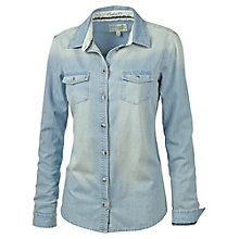 Buy Fat Face Classic Fit Denim Shirt, Blue Online at johnlewis.com