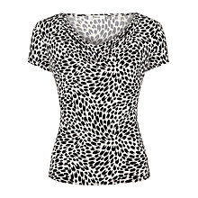 Buy Precis Petite Printed Cowl Neck Top, Black Online at johnlewis.com