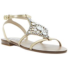 Buy Steve Madden Sizzle Jewel Embellished Sandals, Gold Online at johnlewis.com