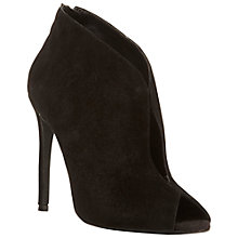Buy Steve Madden Imaginee Peep Toe Shoe Boots, Black Online at johnlewis.com