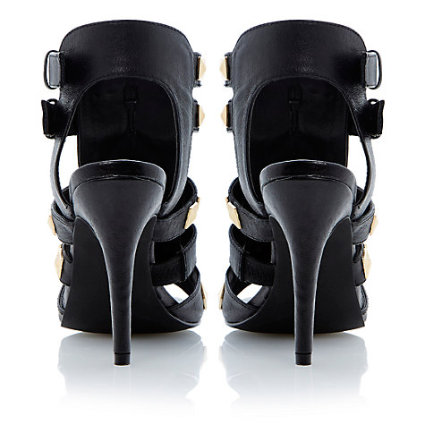 Buy Steve Madden Nix Studded Stiletto Heel Sandals, Black Online at johnlewis.com