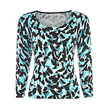 Buy Precis Petite Soft Brushstroke Print Jumper, Blue Online at johnlewis.com