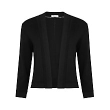 Buy Precis Petite Knitted Shrug, Black Online at johnlewis.com