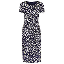 Buy Precis Petite Leaf Print Dress, Blue Online at johnlewis.com