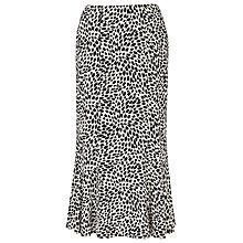 Buy Precis Petite Printed Jersey Skirt, Black / White Online at johnlewis.com