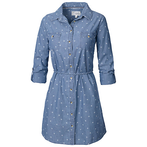 Buy Fat Face Matilda Printed Shirt Dress, Denim Online at johnlewis.com
