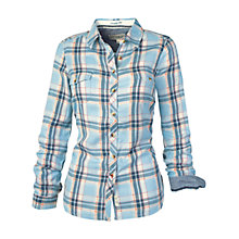 Buy Fat Face Classic Fit Check Shirt, Pearl Blue Online at johnlewis.com