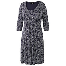 Buy Fat Face Whispy Floral Dress, Navy Online at johnlewis.com