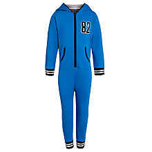 Buy John Lewis Boy Sporty Onesie, Blue Online at johnlewis.com