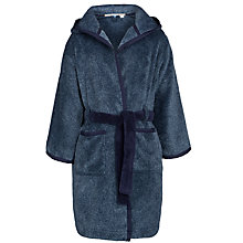 Buy John Lewis Boy Fleece Robe, Navy Online at johnlewis.com