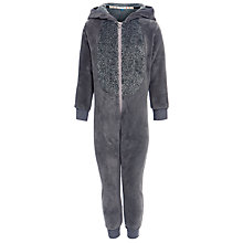 Buy John Lewis Raccoon Fleece Onesie, Grey Online at johnlewis.com