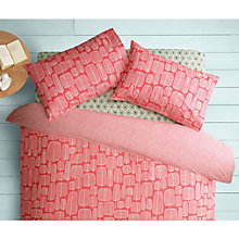 Buy MissPrint Home Little Trees Duvet Cover and Pillowcase Set, Chilli Online at johnlewis.com