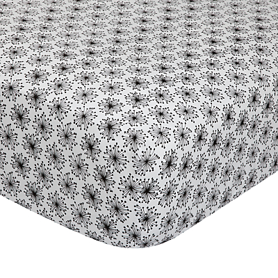 Image of MissPrint Home Dandelion Mobile Fitted Sheet, Black/White