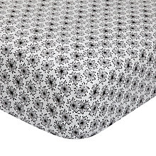 Buy MissPrint Home Dandelion Mobile Fitted Sheet, Black/White Online at johnlewis.com