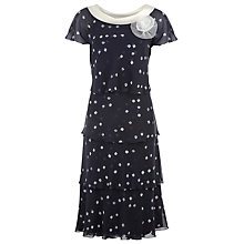 Buy Jacques Vert Layered Chiffon Dress, Blue Online at johnlewis.com