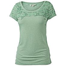 Buy Fat Face Floral Woodblock Amberidge T-Shirt, Light Moss Online at johnlewis.com