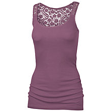 Buy Fat Face Lace Back Vest, Pansy Purple Online at johnlewis.com