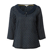 Buy White Stuff Dotty Ditsy Top, Dark Ink Online at johnlewis.com