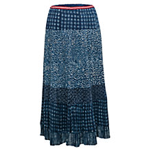 Buy East Swirl Panel Skirt, Indigo Online at johnlewis.com