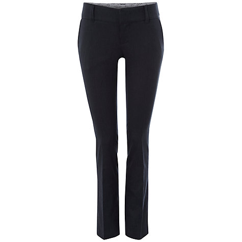 Buy White Stuff Baldwin Stripe Straight Trousers, Dark Ink Online at johnlewis.com
