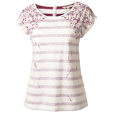 Buy Fat Face Barcelona Tumble Floral Indigo T-Shirt Online at johnlewis.com