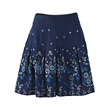 Buy Fat Face China Border Print Skirt, Navy Online at johnlewis.com