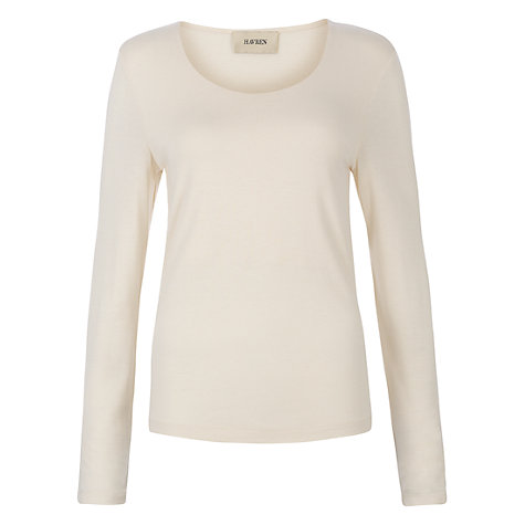 Buy Havren Long Sleeve T-shirt, Cream Online at johnlewis.com