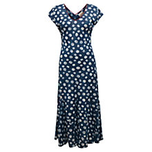 Buy East Spot Dress, Indigo Online at johnlewis.com
